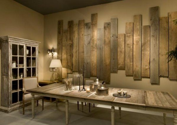M s de 25 ideas fant sticas sobre oficina r stica en for Decorating ideas for large dining room wall