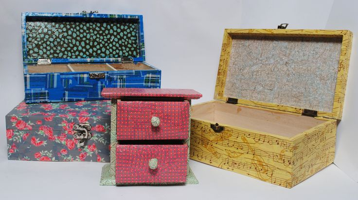 Choose from one of our new box kits and make something unique.  You can choose what colours you would like to make them in.  See them all at www.decopatchdirect.co.uk