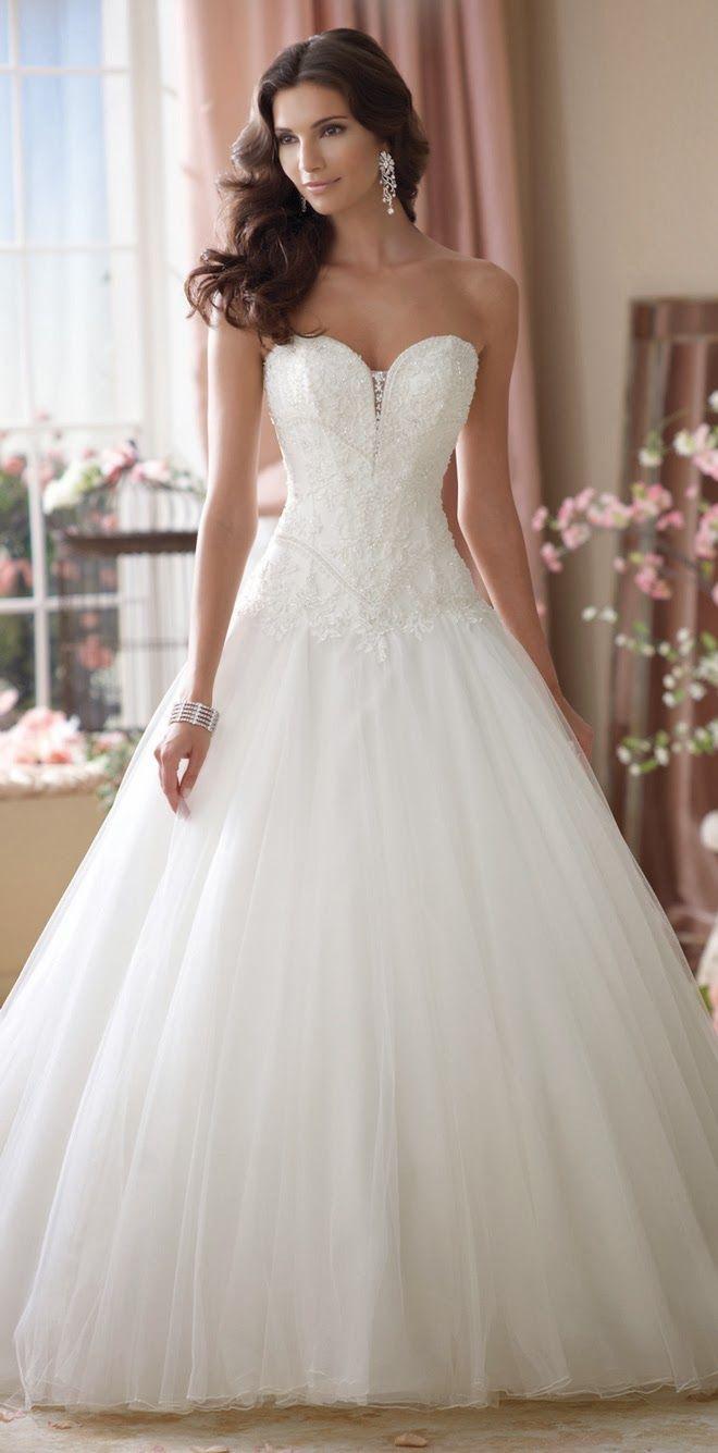 Princess style ~ David Tutera for Mon Cheri Spring 2014 Bridal Collection | bellethemagazine.com