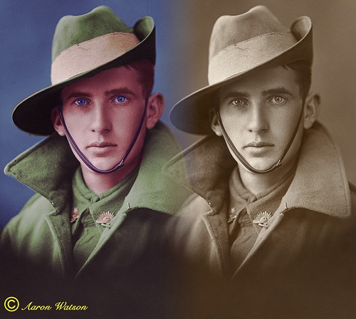 -Faces from History, WWI Australian Solider