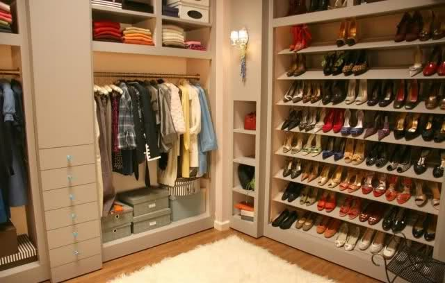 a place for all my shoes hooray