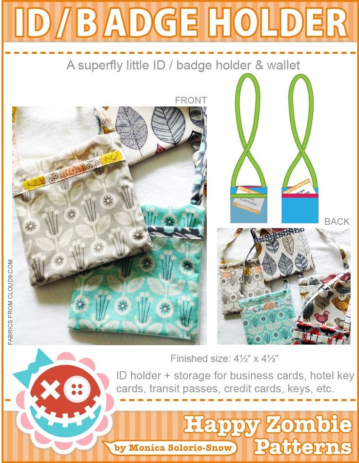 Badge holder beginner sewing projects easy
