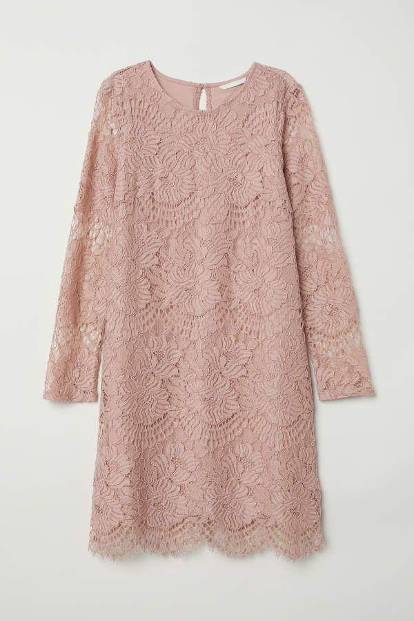 H M H M Short Lace Dress Vintage Pink Women Lace Dress Vintage Dress Clothes For Women Short Lace Dress