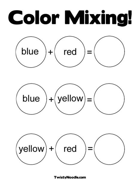 Color Mixing Coloring Page from