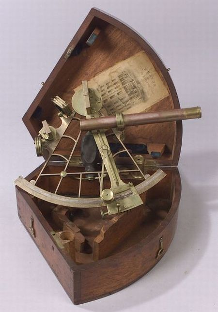 Brass 8-inch Radius Sextant by Spencer, Browning & Co.