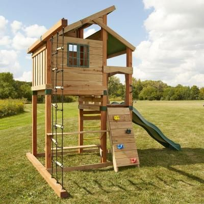 Timber Bilt Playsets Hideaway Clubhouse Playset Pb 8129 At