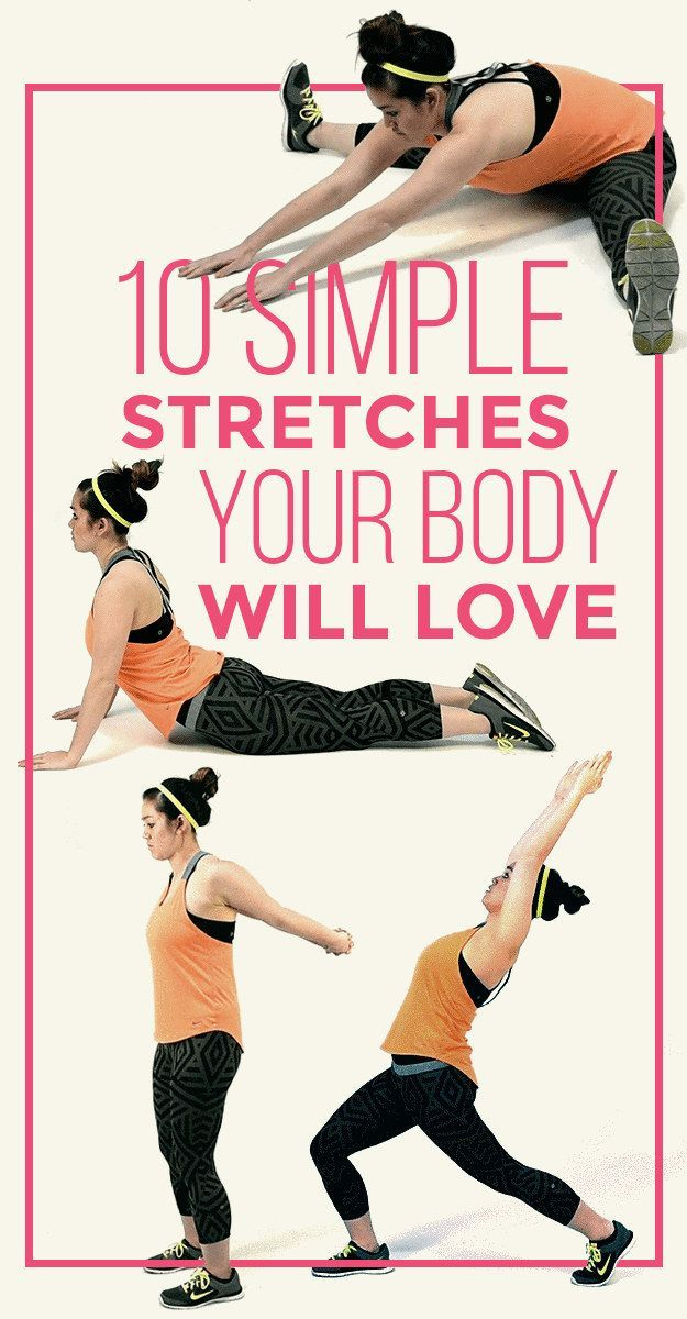 10 Simple Stretches Your Body Will Love #fitness