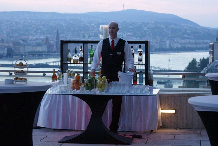 Outdoor reception at the Presidential Suite