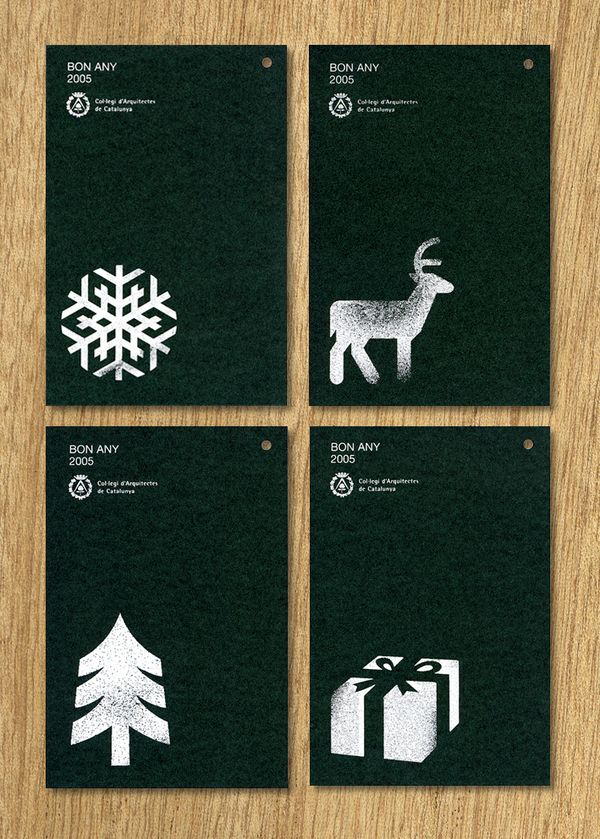Christmas design COAC by Mikel Cans, via Behance