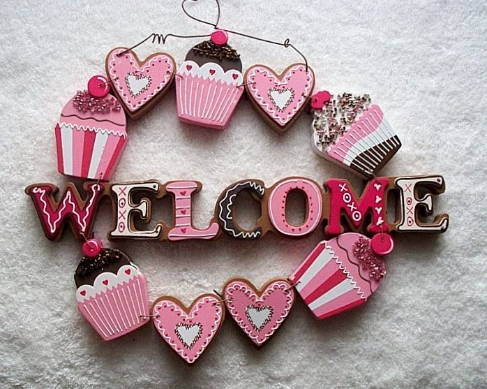 Cupcake Welcome sign I've just bought from US ebay will be getting my very first American cupcake item yeah!