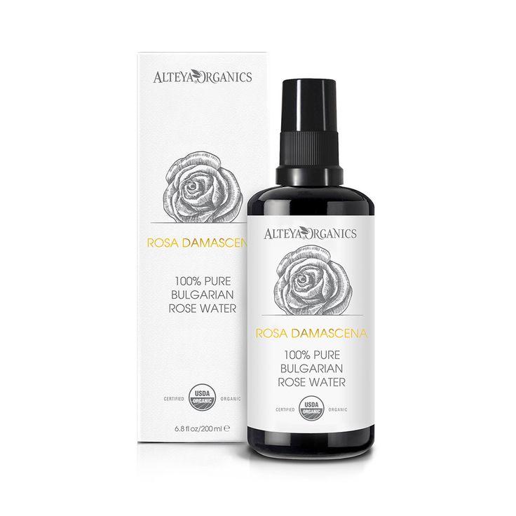 Alteya's Organic Rose Water Toner Mist – 200ml Violet Glass spray