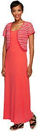 As Is Liz Claiborne New York Regular Essentials Knit Dress w/ Shrug
