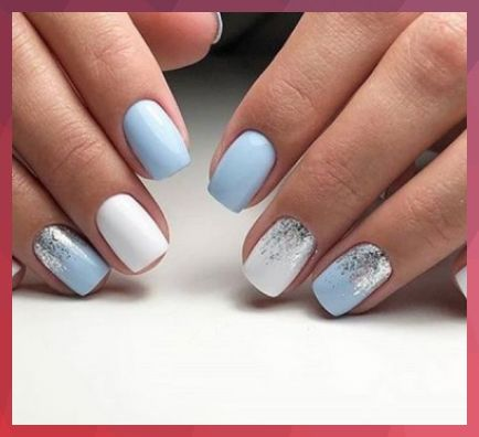 top 10 light blue square acrylic nails inspiration