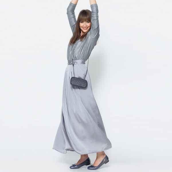 Zelf een zwierige lange rok maken? Bestel het Knipmode naaipatroon, ontvang het patroon thuis per post en ga direct aan de slag!