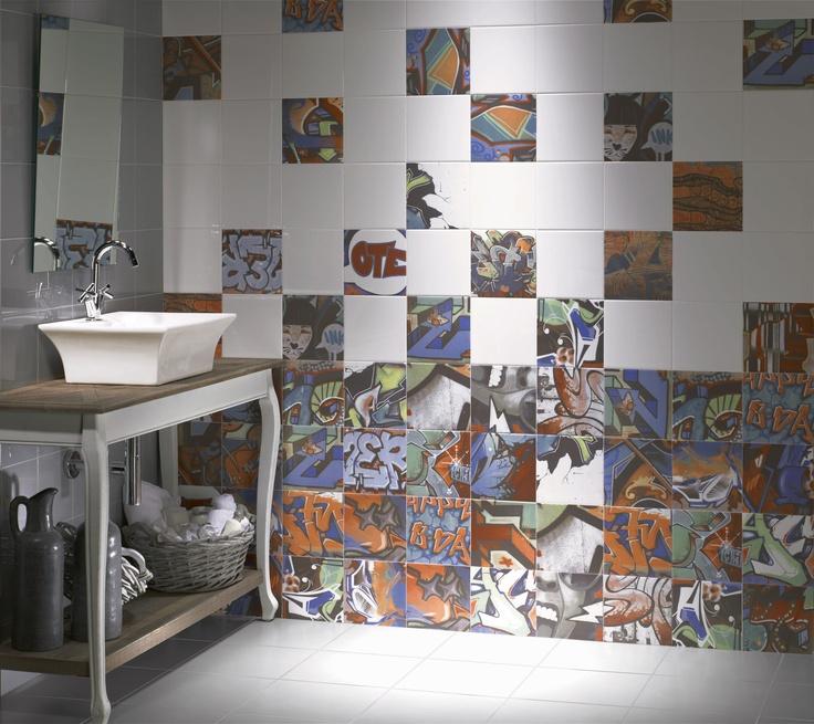 Graffiti Bathroom Tiles Techieblogie Info