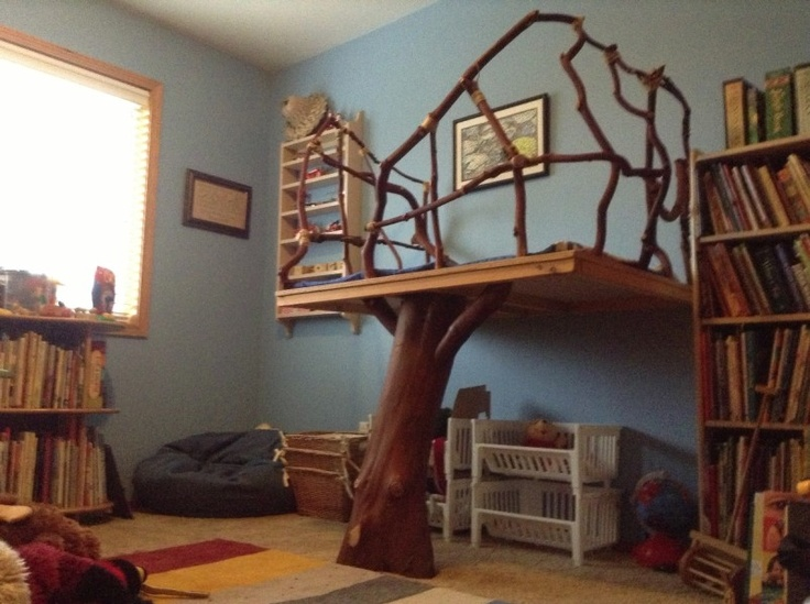 Handmade Tree Loft as seen in Waldorf classrooms. This is so sweet and would be so calming for children.