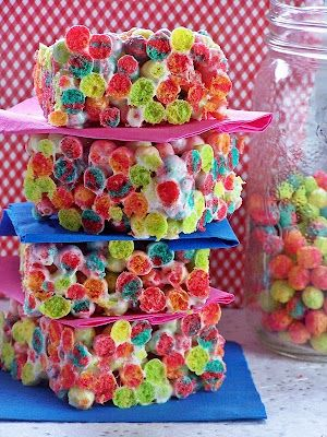 Trix Krispies! Just like rice crispy treats, only prettier!