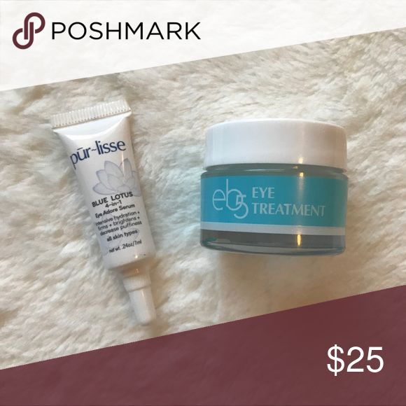 NWOT Daily Repair Eye Cream and Serum Bundle Bundle includes a .5 oz jar of eb5 Daily Repair Eye Treatment Cream (FULL SIZE) and a .24 oz tube of Purlisse Blue Lotus EyeAdore Serum (DELUXE SAMPLE SIZE). All items are brand new. Never used.  Fast Shipping Bundle to Save Purlisse Other