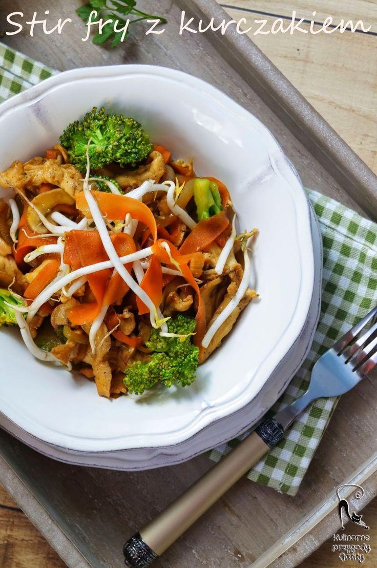 Kulinarne przygody Gatity: Stir fry z kurczakiem