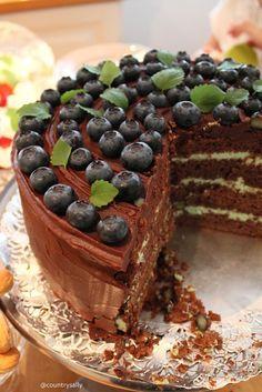 suklaakakku, resepti, suklaakuorrute, rahkatäyte