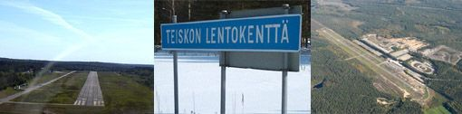 Current Teisko airfield (EFTS) located some 50 km north of Tampere city.