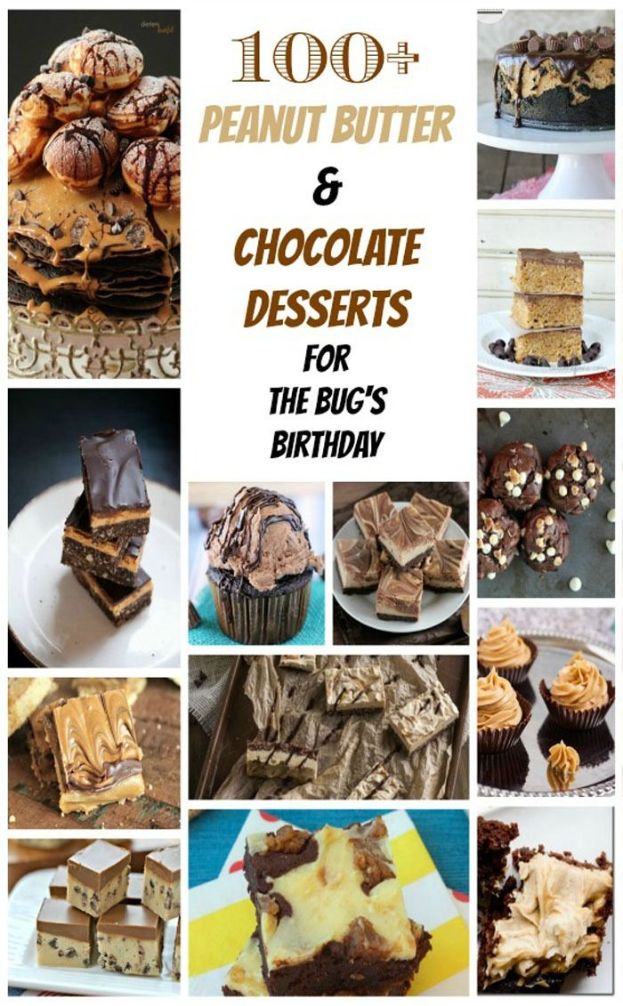 100+ Peanut Butter & Chocolate Dessert Recipes | cupcakesandkalechips.com