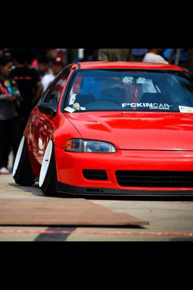 Red 95 Civic Drop Low