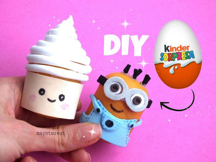 DIY Haz SACAPUNTAS con Huevos Kinder Sorpresa