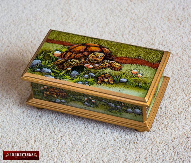 Jewelry Box u0027Sulcata Tortoisesu0027 - Handmade Painted Glass Wood Decorative Jewelry Box - Jewellery boxes - Gift for Women - Peru Handicrafts  sc 1 st  Pinterest & 15 best Jewelry Box - Peruvian Handicrafts images on Pinterest ... Aboutintivar.Com