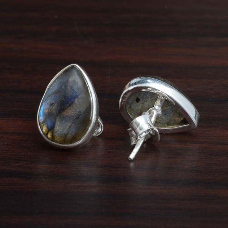 Labradorite 925 SOLID STERLING SILVER AMAZING TOPS EARRING 3.10g ER4107 L-0.50 #Handmade #EARRING