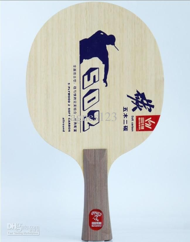 Best Hot Selling Sanwei 5 Plywood + 2 Carbon Layers Table Tennis Blade/ Table Tennis Racket T502e, Free Half Cover Top Sale Under $17.83 | Dhgate.Com