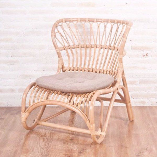 Alanya rattan lounger chair natural living room