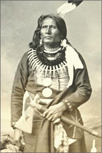 """Standing Bear, Ponca Indian Chief - In 1879 Standing Bear stood up in a federal court and demanded that he be afforded the same rights as whites under the law. Standing Bear v. Crook, was the first federal court decision to declare Native Americans to be """"persons"""" under the law."""