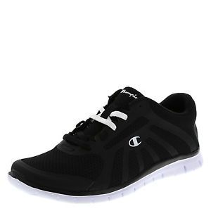 Champion black shoes  | Champion-Womens-Shoes-GUSTO-Runner-BLACK-WHITE-WIDE