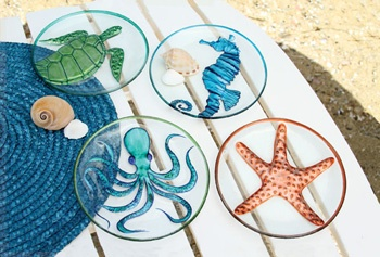 Sealife Appetizer or Dessert Plates