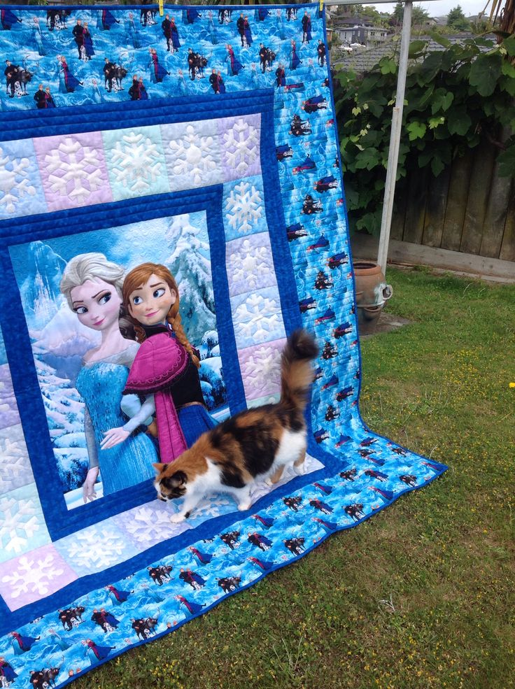 Frozen inspired quilt made for my granddaughter. She was thrilled to bits with it.