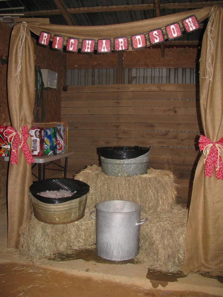 Western Wedding Decor Can Drinks Served Western
