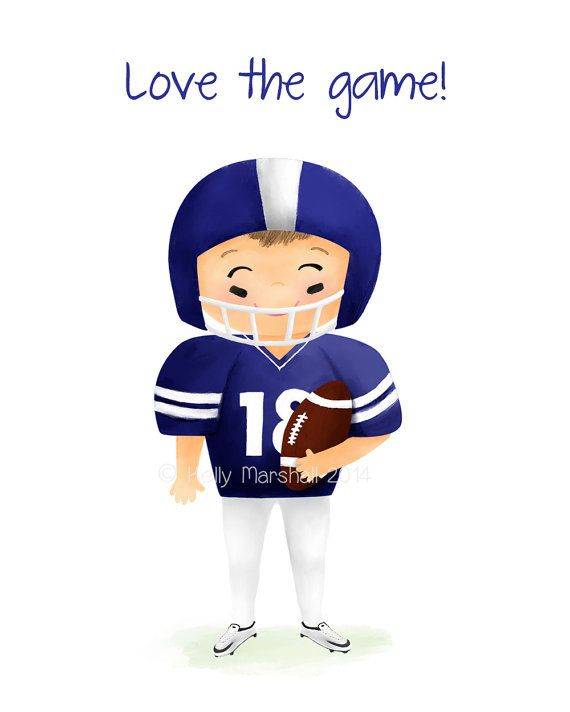 >> American Football Player << Unframed Nursery Art Print by Sweet Cheeks Images. $12.00 AUD