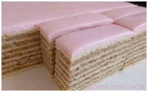 posna rozen torta sa makom | orasima | recept