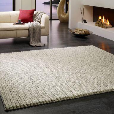 Cream chunky knit carpet