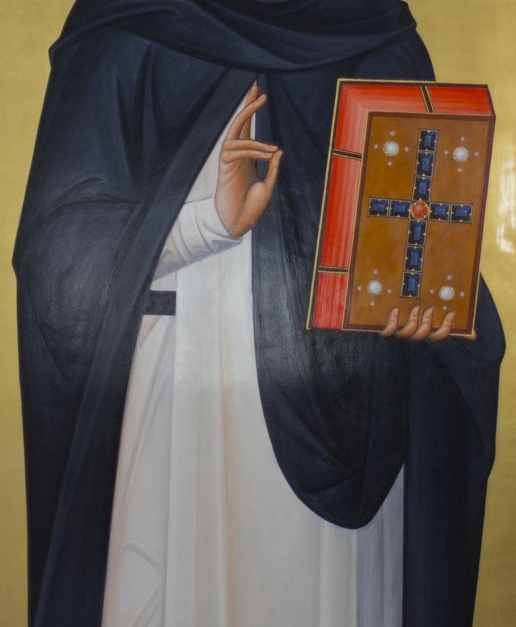 Fragment ikony św. Dominika z kościoła dominikanów w Rzeszowie  #dominik #guzman #dominikanie #ikona #ewangelia #op