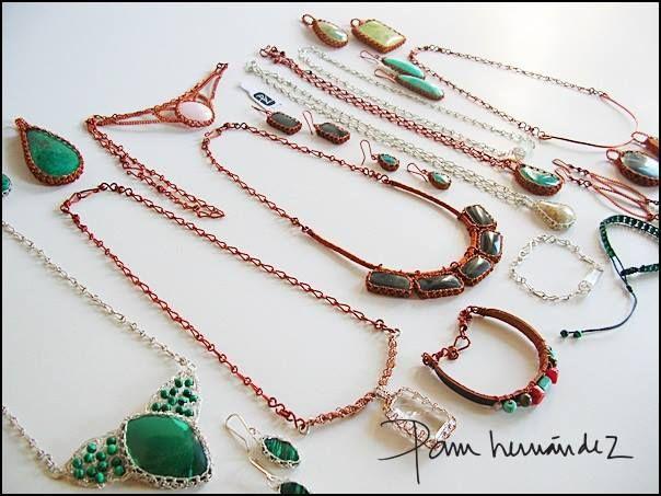 Joyas originales con piedras naturales, cobre, plata... Made in Chile*