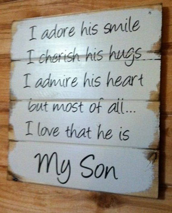 My Son signal I like his smile, I really like that he's My Son, dwelling decor signal – pallet, shiplap, farmhouse signal, hand-painted, wooden signal