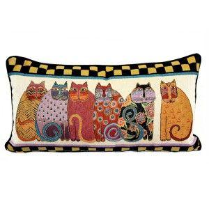 cuscino con gatti di laurel burch surprise box