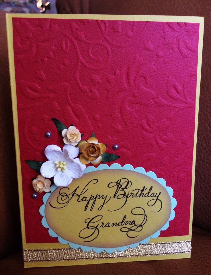17 best birthday card ideas for grandma images on pinterest sizzix bigkick embossed birthday card for grandma happy birthday grandmahandmade greetingshandmade m4hsunfo