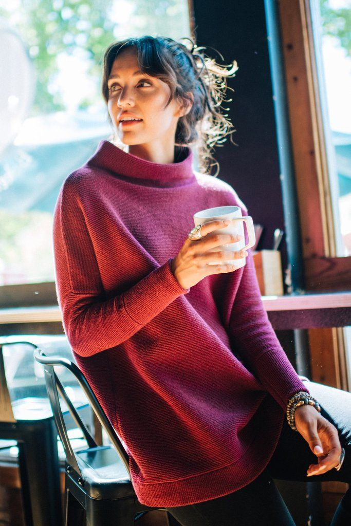 190c4fb0a2b Free People Ottoman Slouchy Tunic in Plum in 2019 | ROBBIE + CO. Top ...