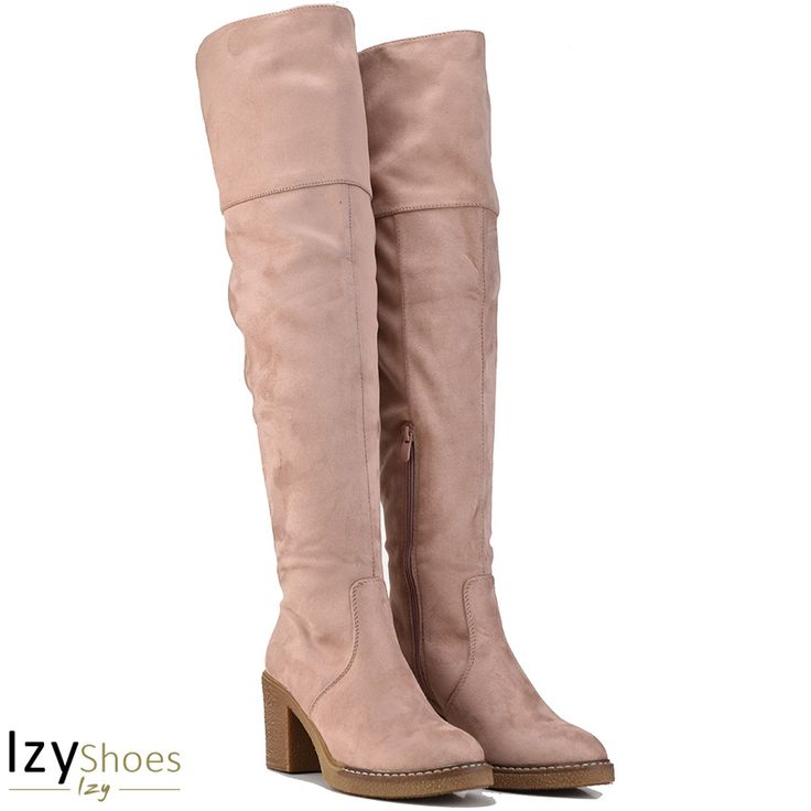 Pink over the knee boot Lets Walk JN77-16
