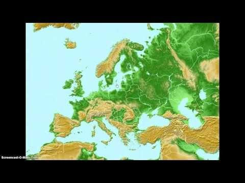 Euroopan-kartta video tekstin kanssa