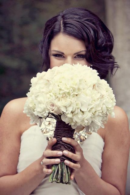 Classic White Bouquet by Blooms + Twine Floral Studio