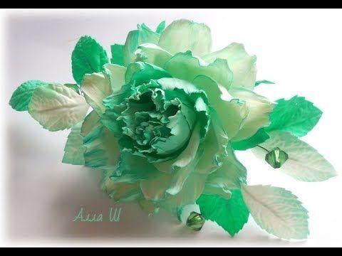 МК Гребень в прическу с цветами из фоамирана Foam flowers tutorial.